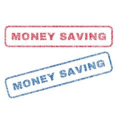 Money saving textile stamps vector