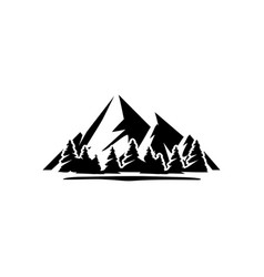 mountain forest icon design template isolated vector image