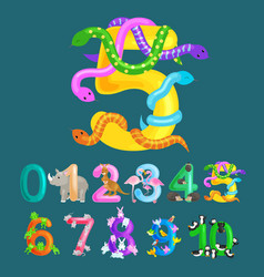 ordinal number five for teaching children counting vector image