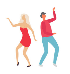 people dancing at party clubbing man and woman vector image