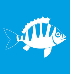 Perch icon white vector