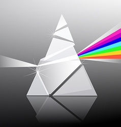 Prism Triangle Transparent Glass Shape with vector