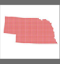 red dot map of nebraska vector image