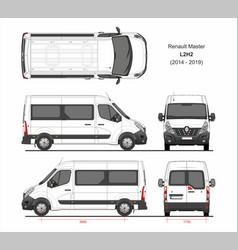 Renault master passenger van l2h2 2014-2019 vector