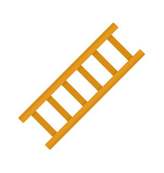 Repair ladder icon flat isolated vector