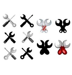 Repair or settings icons vector image