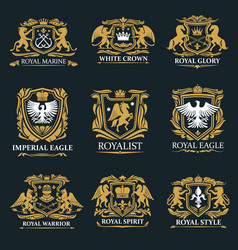 royal crown heraldry coat arms vector image