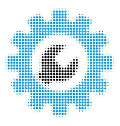 service tools halftone icon vector image