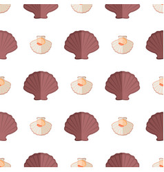 Shell and mollusk pattern vector
