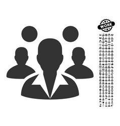 Staff icon with men bonus vector