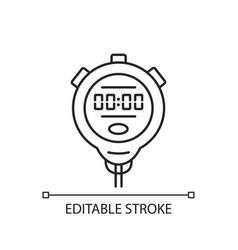Stopwatch linear icon vector