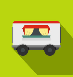 Street food trailer icon flat style vector