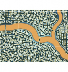 streets and river vector image