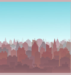 Sunset city silhouette landscape city landscape vector