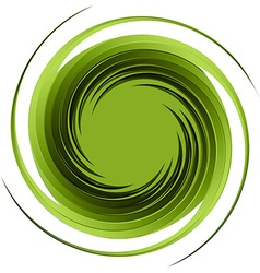 Swirl abstract green vector