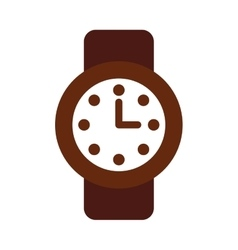 time clock watch flat icon vector image