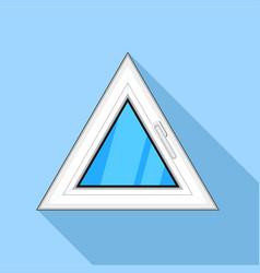 Triangular window icon flat style vector