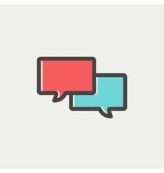 Two Speech bubbles thin line icon vector image