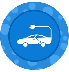 Unique car glyph icon vector