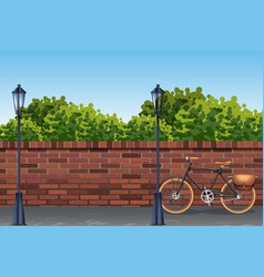 urban street background template vector image