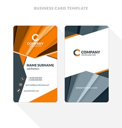 vertical double-sided business card template vector image