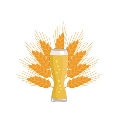 weizen glass of beer isolated on white background vector image