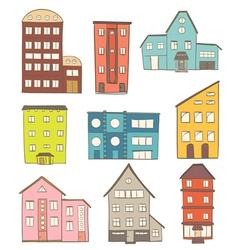 cartoon houses vector image vector image
