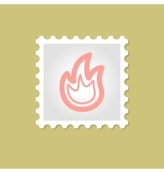 fire stamp vector image