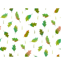 leaves colorful seamless pattern watercolor style vector image
