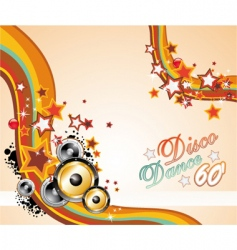music background for disco flyers vector image