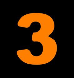 number 3 sign design template element orange icon vector image vector image