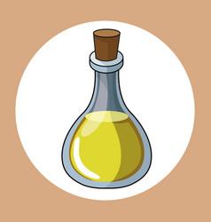 Oil bottle healthy fresh image vector