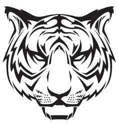 Tattoo tigers head vector