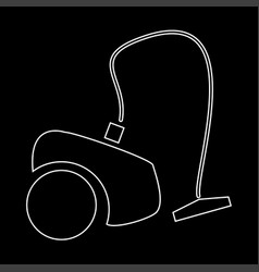 vacuum cleaner the white path icon vector image vector image