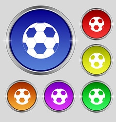 Football icon sign Round symbol on bright vector image vector image
