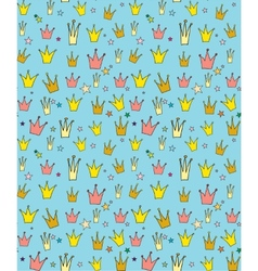 Seamless pattern of the crown princess vector image