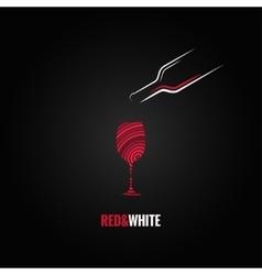 wine glass art design background vector image vector image