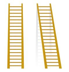 Wooden staircase vector