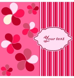 abstract card background vector image