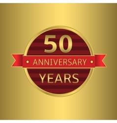 Anniversary 50 years vector