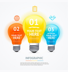 business infographic electric light bulb banner vector image