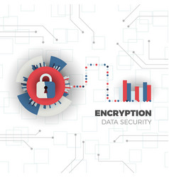 data encryption concept vector image