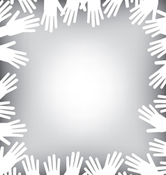 Hands Border vector image vector image
