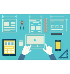 Mobile application optimization for devices vector image