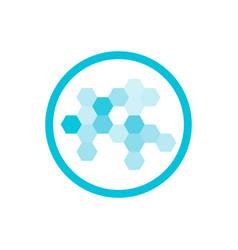 nanotechnology blue round icon vector image vector image