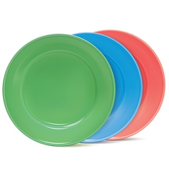 Plates set vector image vector image