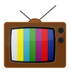 Retro tv test pattern vector image