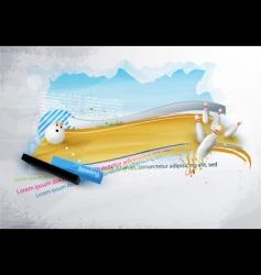 tenpin bowling banner vector image