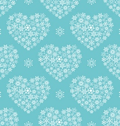 Turquoise seamless pattern with hearts vector image vector image