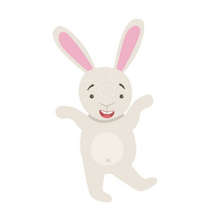bunny cute toy animal with detailed elements part vector image vector image